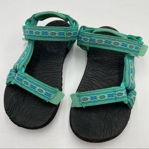Teva Hurricane Teal Adj. Water Hiking Sandals
